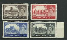 A Set of 1955 Waterlow Castles, Mounted & Unmounted MInt.