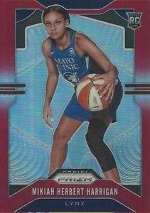 2020 WNBA PANINI MIKIAH HERBERT HARRIGAN RED PRIZM ROOKIE PARALLEL CARD 058/275