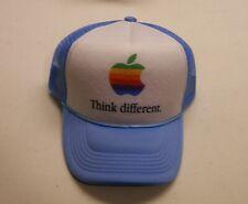 Apple Computer Rainbow Logo Think Different Hat - Blue w/Black Letters