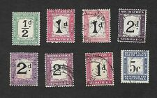 SOUTH AFRICA STAMPS POSTAGE DUE SELECTION USED