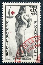 STAMP / TIMBRE FRANCE OBLITERE N° 1400 CROIX ROUGE
