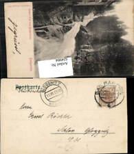 634984,Stempel Badgastein n. Schloss Gloggnitz Stp. Gloggnitz Bestellt 1905