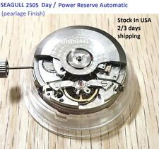 New ! Sea -Gull 2505 Movement Automatic Date / Power reserve ,Pearlage Finish