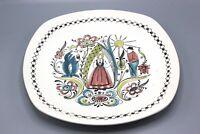 "Vintage Mid Century STAVANGERFLINT Norway Art Pottery 12.625"" Plate"