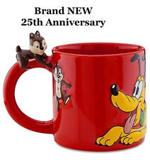 Disney Store 25th Anniversary Pluto / Chip & Dale Coffee Mug 3D Brand NEW LAST!!