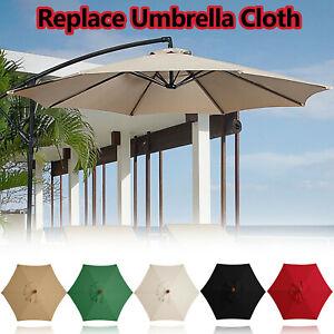 10FT Hanging Patio Umbrella Sun Shade Rainproof Offset Outdoor Yard Market
