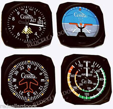 TRINTEC CESSNA Aircraft Instrument Coaster Set 4pc Coasters Aviation  New