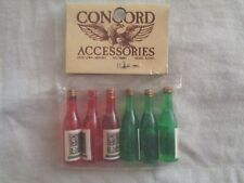 VINTAGE CONCORD  DOLL HOUSE SET OF 6 BOTTLES NEW
