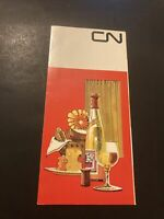Vintage Menu CN Rail Service Menu Train Travelling Canada CN PS16