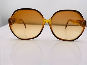 Vintage Carrera 1112-10 Brown Oval Oversized Austria Sunglasses FRAMES ONLY