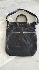 Brand New BALENCIAGA Black Premium Leather Messenger Holdall Bag