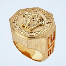 18k Gold Plated Titanium Greek Mythology Medusa Vintage Style Hiphop Ring M137