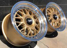 Gold 17x8.5 5x130 Rims Wheels ESM 004M Fits Porsche 964 993 carrera turbo