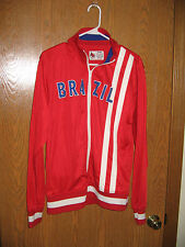 Track N Field Brazil Jacket  Big Hare Jogging Large Red Polyester FREE SHIP