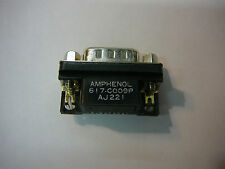 AMPHENOL DSUB Connector 9 position pin GOLD Right Angle **NEW** 5/PKG