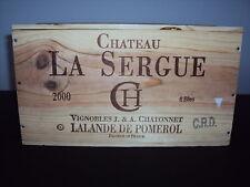 CHATEAU LA SERGUE LALANDE DE POMEROL 2000