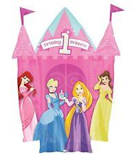 "DISNEY PRINCESS1ST BIRTHDAY PARTY SUPPLIES 35"" CASTLE SUPER SHAPE FOIL BALLOON"