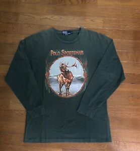 Vintage Ralph Lauren Polo Sportsman Long Sleeve T Medium USA