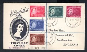South West Africa - 1953 QE2 Coronation Illustrated First Day Cover