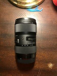 Sigma 18-35mm F1.8DC HSM Lens, Brand New, Black