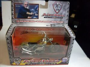 Iron Legends Arlen Ness Yellow and Flames Chopper Motorcycle die cast 1:18
