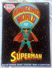 AMAZING WORLD of SUPERMAN Treasury Edition -MAP of KRYPTON POSTER! Uncirculated!