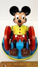 "MARX Mickey Mouse ""Krazy Car"" Battery Operated Toy - Excellent Condition - US"