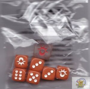 POKEMON Sun & Moon Orange DICE 12mm AND 16mm COUNTERS FOR CARDS