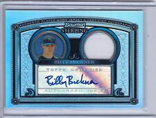 2005 Bowman Sterling Refractor Game Jersey Autograph Billy Buckner 168/199