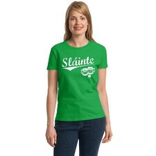 Sláinte Women's T-shirt toast to your health funny drinking St Patrick's Day tee