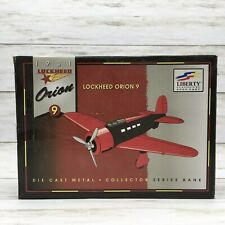 1931 Liberty Classics Lockheed Orion 9 Diecast Metal Collector Bank