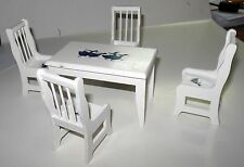 5 PC. SWAN TABLE AND CHAIR SET DOLLHOUSE FURNITURE MINIATURE
