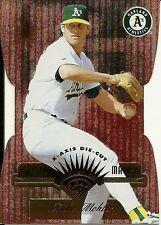 1997 Leaf Fractal Matrix Die Cut Bronze Mike Mohler 161 Athletics