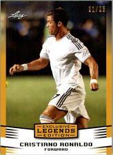 CRISTIANO RONALDO 2016 LEAF LEGENDS EXCLUSIVE GOLD PARALLEL SOCCER CARD! LTD 25!
