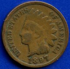 "1897 United States ""Indian Head"" 1 Cent Coin"