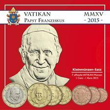 Vatikan Euro KMS 2015 Papst Franziskus Sondersatz im Folder