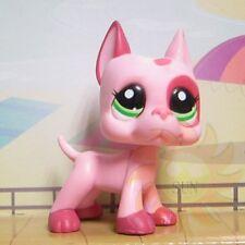 Littlest Pet Shop Animals Collection LPS Toys Great Dane Dog #2598 Mauve Patches