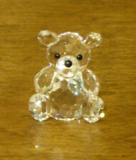CRYSTAL WORLD #1060 MARCH BIRTHSTONE BEAR,  AQUAMARINE, New From Retail Store