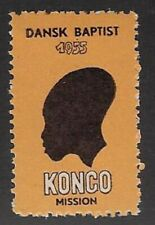 Denmark Poster stamp: Danish Baptist African Congo Mission, 1955 -  cw69.14