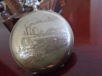 Relógio Roskopf Patent 1900 Trem Ferroviário Porcelana Raro