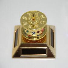 Solar or Battery Buddhist Mantra Scriptures Prayer Wheel for Car, Desk or Window