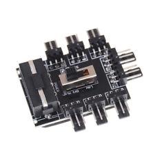 PC IDE Molex 1 To 8 Way Splitter 3-Pin Cooling Fan Hub Power Socket AdapterSC