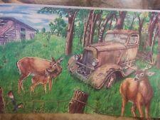 Rustic ,deer, antique, dodge truck , old building ,birds. Great outdoors.Art