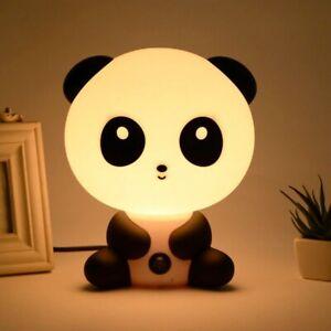 Cartoon Night Lamp Table Light Lovely Cute Kids Desk Led Baby Room Bedroom Panda