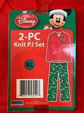 DISNEY PAJAMA PJ knit SET for Women HOLIDAY CHRISTMAS Mickey Size XL