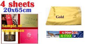 .4 sheets 20 x 65 cm Golden Hot Foil Paper for small DIY decoration project AU