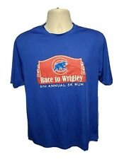Race to Wrigley 6th Annual 5k Run Adult Medium Blue Jersey