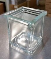3 oz Square Votive Style Candle Glass Jar Container (Lot of 6)
