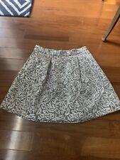 Behnaz Sarafpour For Target Silver Floral Metallic A-Line Skirt Sz 1 EUC