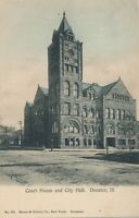 DECATUR IL – Court House and City Hall – udb (pre 1908)